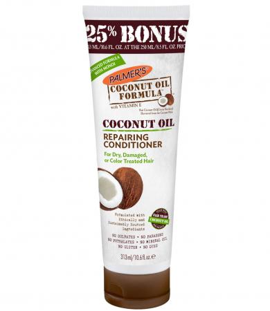 Balsam reparator intensiv par deteriorat PALMER'S Coconut Oil Formula, Vitamina E, Lapte de cocos, Keratina si Proteine din matase, 313 ml
