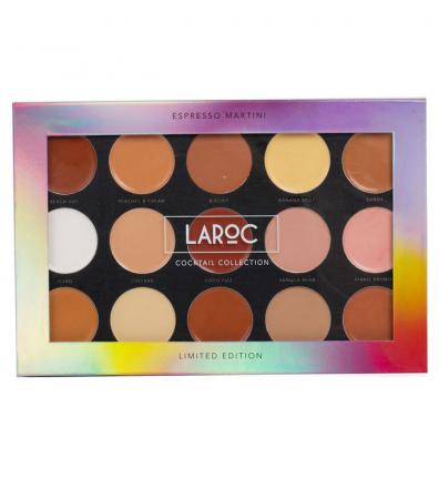 Trusa Profesionala pentru Makeup LAROC Cocktail Palette, 15 Culori, Espresso Martini