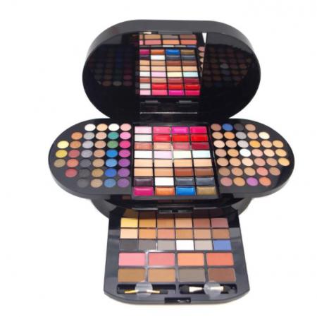 Trusa profesionala pentru machiaj Miss Rose Professional BRILLIANT Make Up Palette, 130 culori