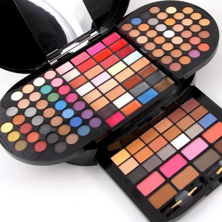 Trusa profesionala pentru machiaj Miss Rose Professional BRILLIANT Make Up Palette, 130 culori2