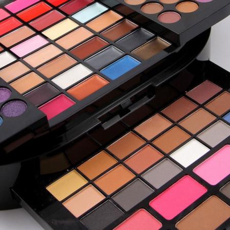 Trusa profesionala pentru machiaj Miss Rose Professional BRILLIANT Make Up Palette, 130 culori4