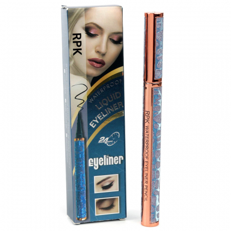 Tus de ochi carioca Waterproof RPK, Blue Diamonds Eyeliner, Negru Intens