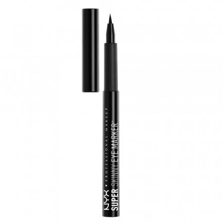 Tus de ochi NYX Professional Makeup Super Skinny Eye Marker, Carbon Black, 1.1 ml