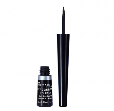 Tus de ochi Rimmel London Exaggerate Liquid Eyeliner, 100% Black, 2.5 ml