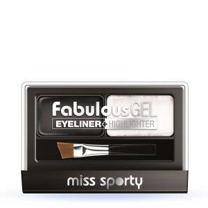 Paleta Tus De Ochi Si Iluminator Miss Sporty Fabulous Gel, Black & White