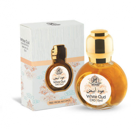 Ulei de parfum arabesc HAMIDI White Oud Perfume Oil, formula concentrata, 15 ml