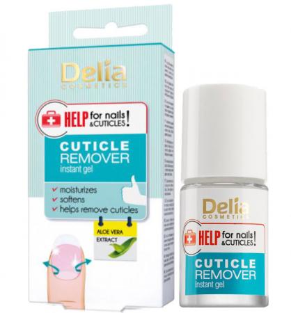 Gel instant pentru indepartarea cuticulelor, Delia Cosmetics Help for Nails & Cuticles, Aloe Vera Extract, 11 ml