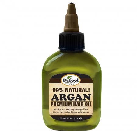 Ulei tratament premium pentru regenerarea firului de par, volum si stralucire, Difeel 99% Natural din Ulei de Argan, 75 ml