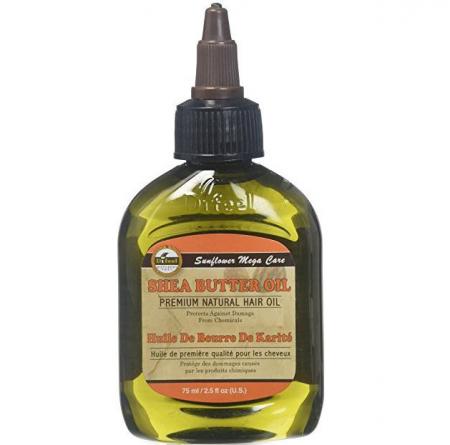 Ulei tratament premium pentru par deteriorat cu protectie impotriva factorilor chimici, Difeel 99% Natural din Unt de Shea, 75 ml