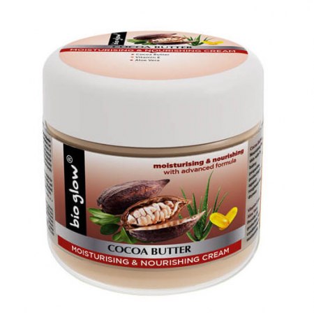 Unt de Corp Bio Glow cu Cacao, Aloe Vera si Vitamina E, pentru piele uscata, 300 ml0