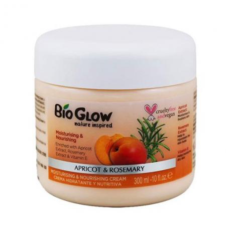 Unt de Corp Bio Glow cu Caise, Rozmarin & Vitamina E, pentru piele uscata, 300 ml