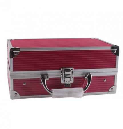 Valiza De Machiaj Multifunctionala Miss Rose Professional Makeup, Simple Pink Case3