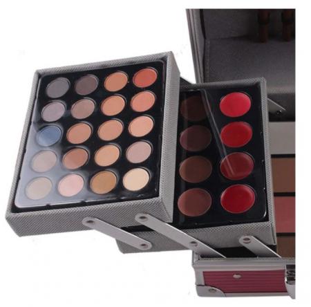 Valiza De Machiaj Multifunctionala Miss Rose Professional Makeup, Simple Pink Case1