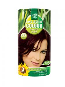 Vopsea de Par HennaPlus Long Lasting Colour - Red Violet Brown 4.670