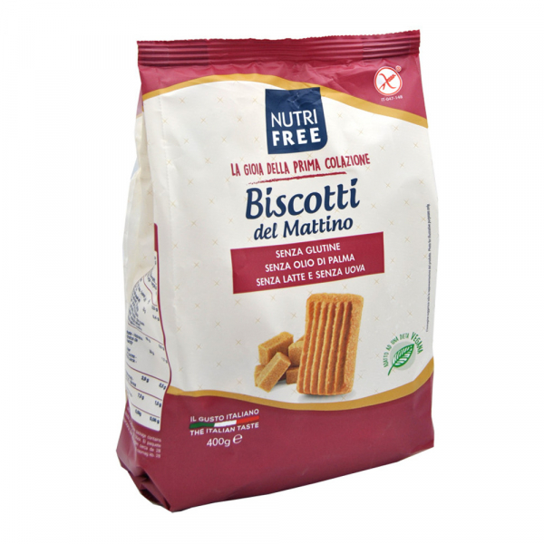Biscuiti Biscotti del Mattino fara gluten 400Gr 0