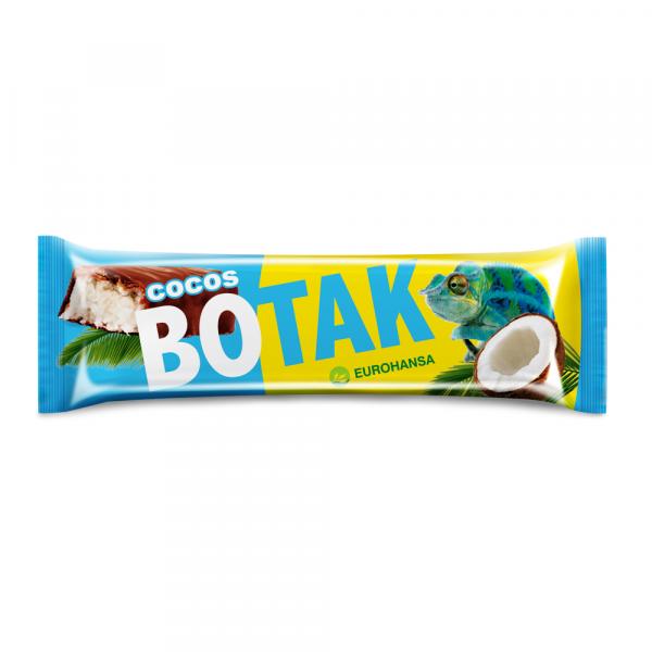 Baton de cocos in ciocolata cu lapte fara gluten Botak 40Gr 0