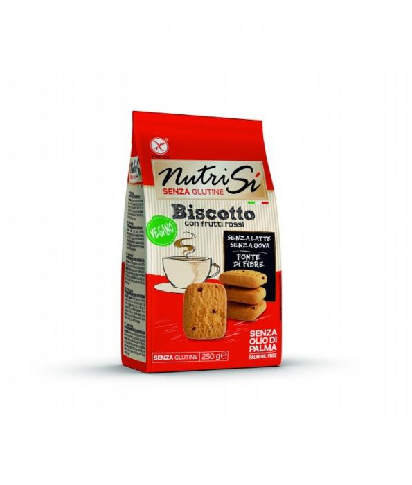 Biscuiti vegani fara gluten cu fructe rosii 250Gr [0]