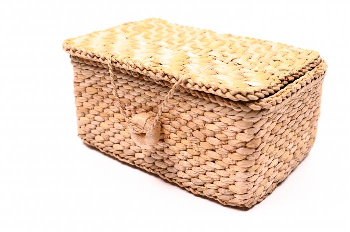 Cutie depozitare din papura cu capac [0]