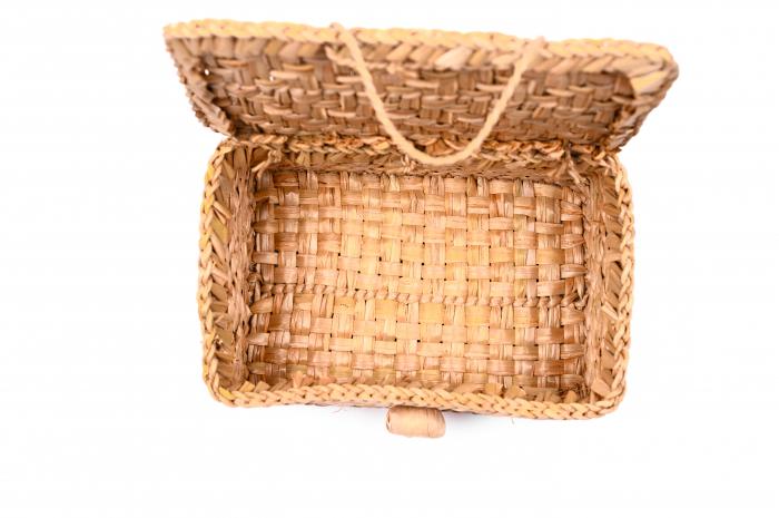 Cutie depozitare din papura cu capac [2]