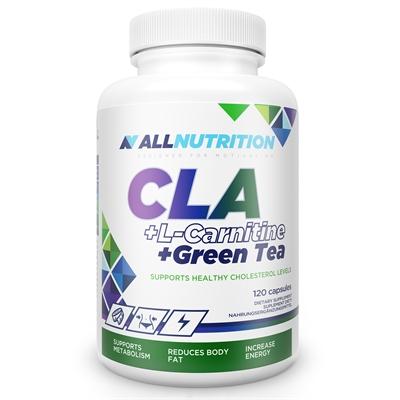 Arzator de Grasimi, Acid Linoleic Conjugat + L-Carnitina + Ceai Verde, AllNutrition CLA + L-Carnitine + Green Tea  - 120 capsule (120 doze) [0]