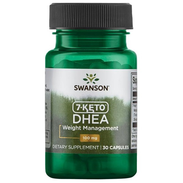 Arzator de Grasimi si Slabit, Complex Termogenic Patentat, Swanson Diet 7-Keto DHEA - 30 capsule (30 doze) [0]