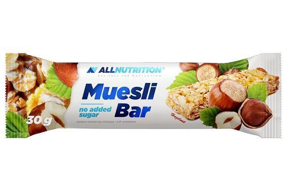 Baton din Fulgi de Ovaz cu Fructe Uscate (Hazelnut), AllNutrition Muesli Bar - 30 g [0]