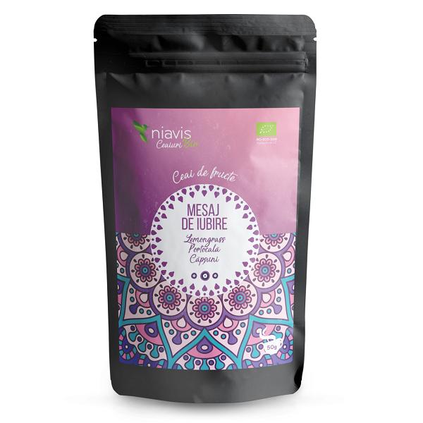 """Ceai Ecologic/BIO """"Mesaj de Iubire"""" - 50 g [0]"""