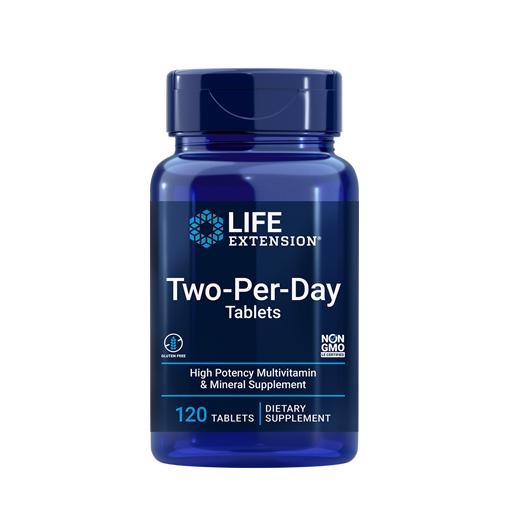 Complex de Multivitamine si Minerale, Life Extension Two-Per-Day Tablets - 120 comprimate (60 doze) [0]