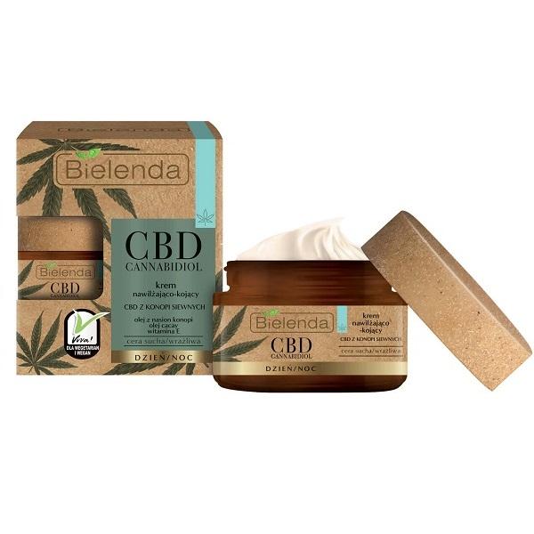 Crema de fata Hidratanta si Calmanta cu anabidiol CBD din seminte de canepa pentru ten Sensibil si Uscat - 50 ml [0]