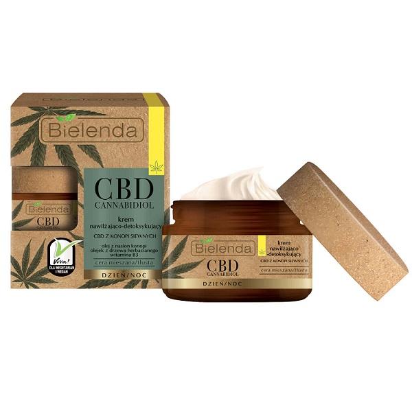 Crema de fata Hidratanta si Detoxifianta cu canabidiol CBD din seminte de canepa pentru ten Mixt si Gras - 50 ml [0]