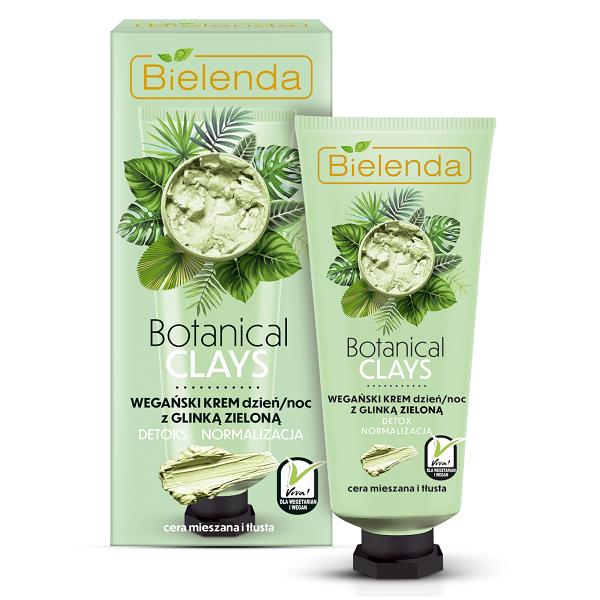 Crema Vegana de fata cu Argila Verde Zi/Noapte, Botanical Clays - 50 ml [0]