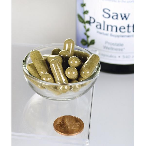 Supliment alimentar, Prostata si Confort Urinar, Extract de Palmier Pitic, Swanson Saw Palmetto - 250 capsule (250 doze) [2]