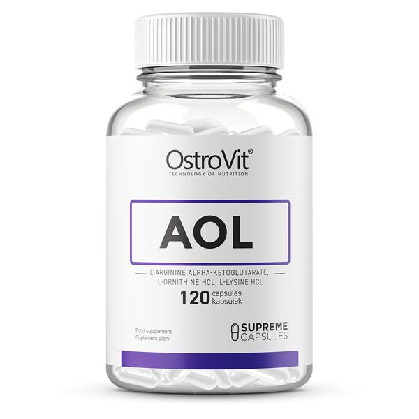 L-arginina (1000 mg), L-ornitina (1000 mg), L-lizina (1000 mg) - OstroVit Supreme Capsules AOL 120 capsule (40 doze) [0]