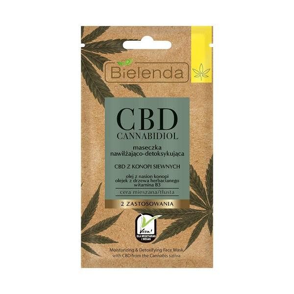Masca de fata Hidratanta si Detoxifianta cu canabidiol CBD pentru tenul Mixt si Gras - 8 g [0]