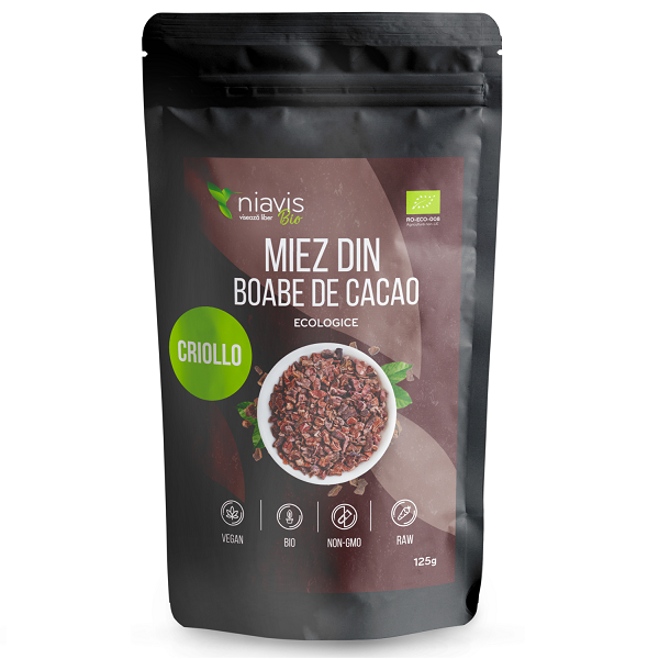 Miez din Boabe de Cacao Ecologice/BIO - 125 g [1]