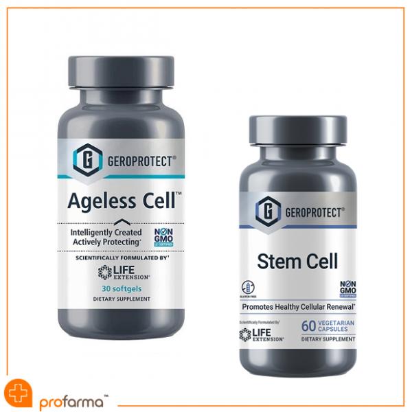 Pachet Anti-Aging, Geroprotector, Regenerare Celulara, Sanatate Cardiovasculara si Imunitate, GeroProtect - Set [0]