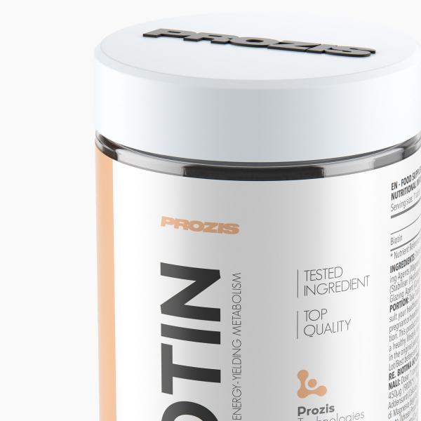 Biotina,Vitamina B7, Prozis Biotin 450 mcg, 60 tablete [5]