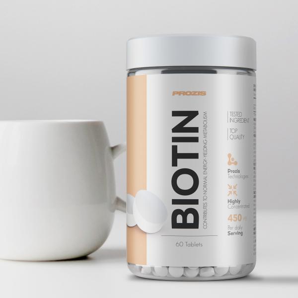 Biotina,Vitamina B7, Prozis Biotin 450 mcg, 60 tablete [3]