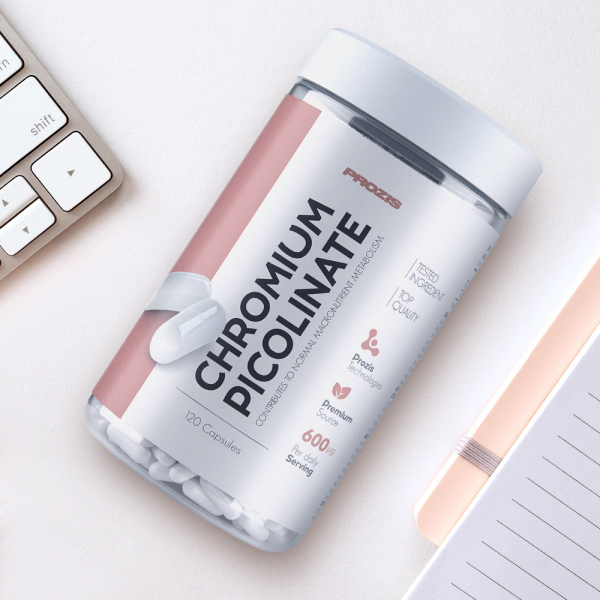 Picolinat de Crom, Chromium Picolinate 600 mcg - 120 cps [3]