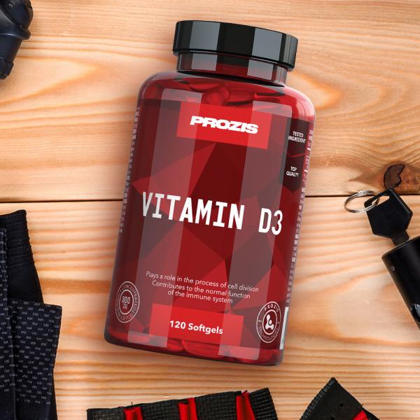 Vitamina D3, Vitamin D3 800IU Prozis120 softgels [3]
