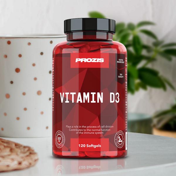 Vitamina D3, Vitamin D3 800IU Prozis120 softgels [2]