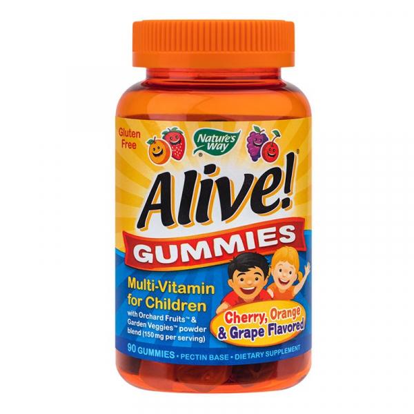 Alive! Gummies Multi-Vitamin for Children 90 jeleuri [0]