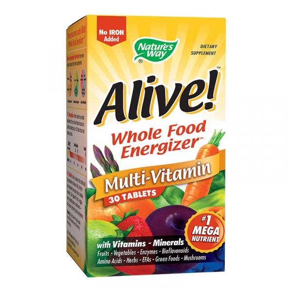 Alive, Multi-Vitamine (fara fier adaugat) - 30 cpr [0]