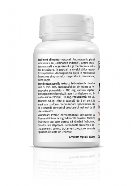 Supliment alimentar, Zenyth Andrographis (386 mg) - 30 capsule [1]