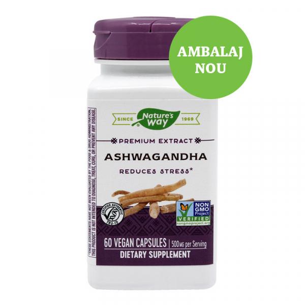 Supliment alimentar, Ashwagandha (500 mg) - 60 capsule [0]