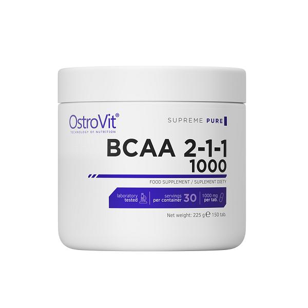 Supliment alimentar, OstroVit Supreme Pure BCAA 2-1-1 1000 (5000 mg) - 150 comprimate ( 30 doze) [0]