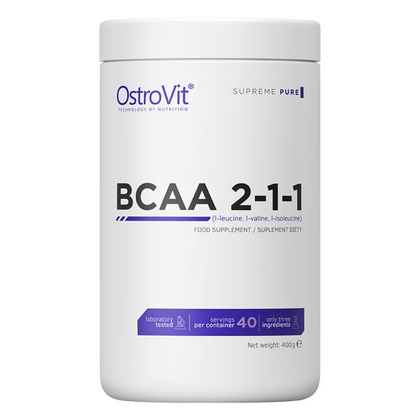 Supliment alimentar, OstroVit Supreme Pure BCAA 2-1-1 (5000 mg) - 400 g (40 doze) [0]