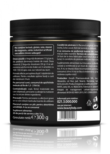Supliment alimentar, Beauty Help Strawberry - 300 g [3]