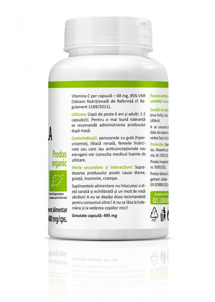 Supliment alimentar, Bio Acerola (400 mg) - 60 capsule [3]