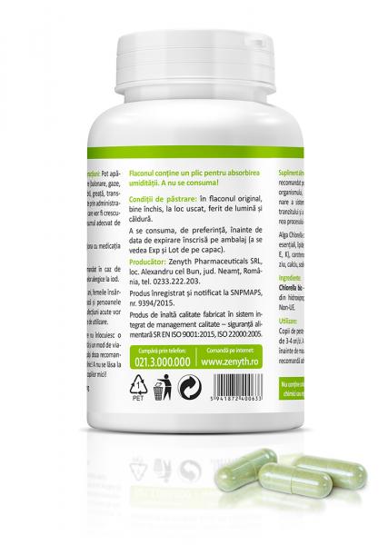 Supliment alimentar, Bio Chlorella (450 mg) - 60 capsule [2]